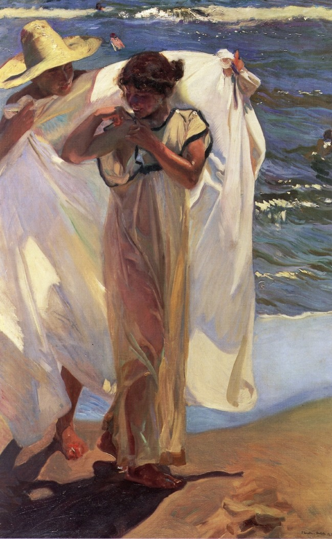 After the Bath, Saliendo Del Bano, Joaquin Sorolla y Bastida